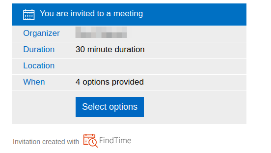 Find Time invite example screenshot