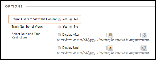 Screenshot showing where to change the setting allowing students to see the report.