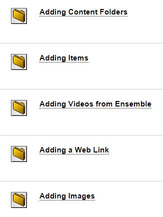 Blackboard folder structure