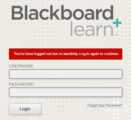 Blackboard Guest Authentication