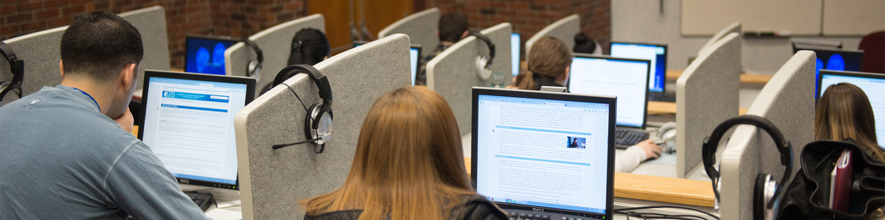 Picture of students sitting in a lecture center classroom