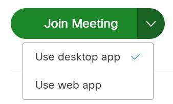 Use Webex desktop app to join meeting