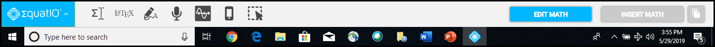 EquatIO Toolbar
