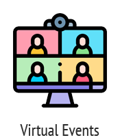 Image of virtual event on computer