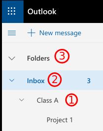 Screenshot demonstrating folder hierarchy.
