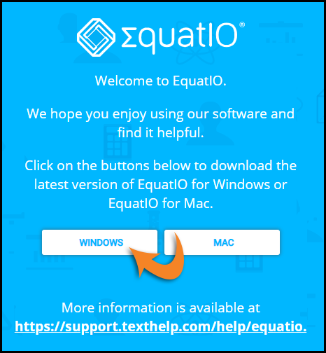 EquatIO Download screen