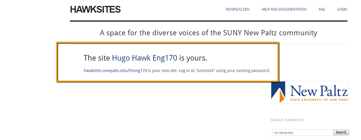 Hawksite new blog complete notification