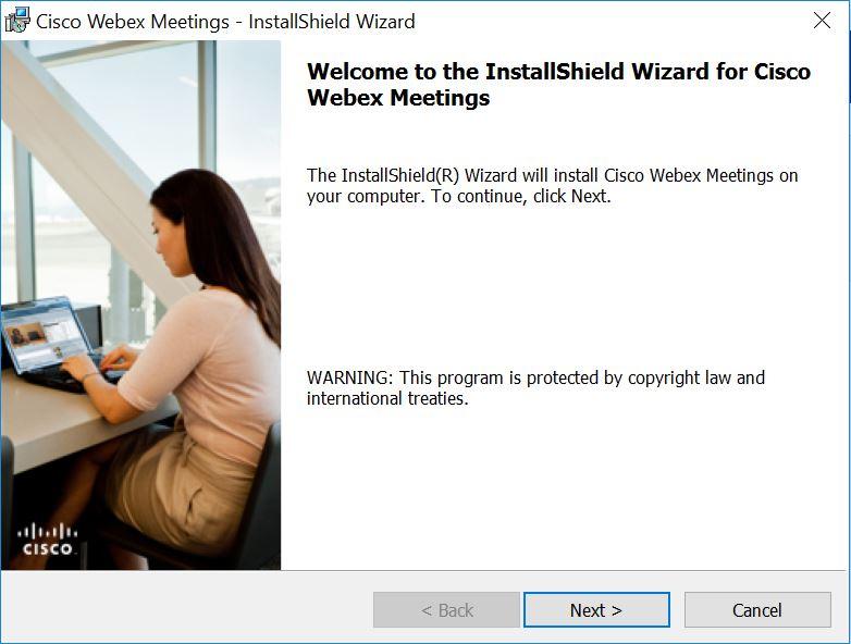 Webex Installation Wizard