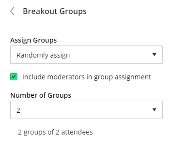Screenshot of checkbox to include moderators in group assignments or not