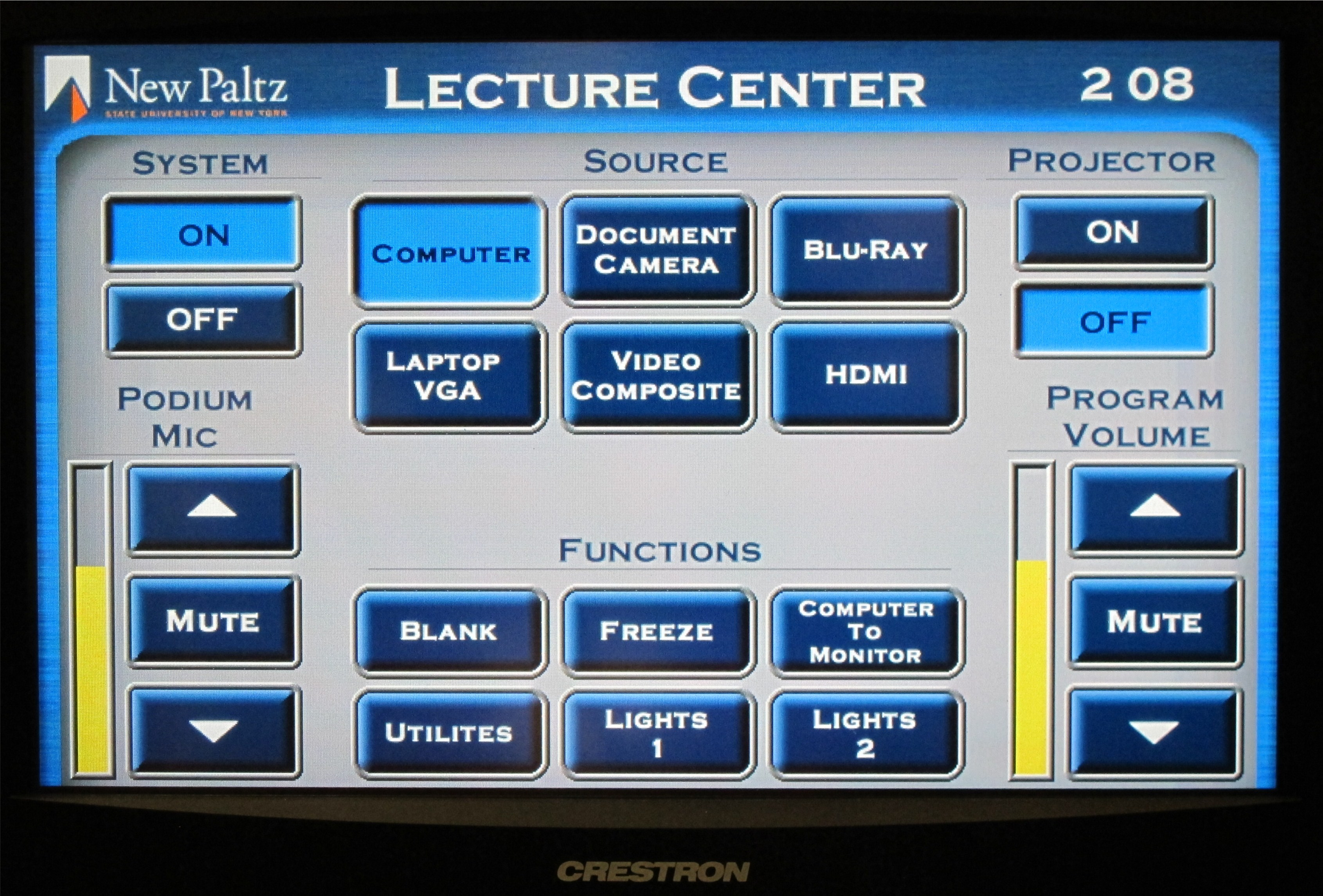 LC102 Touch Panel