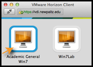 VMware desktop options with Academic General Win7 and Win7Lab