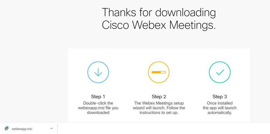 Instal Webex