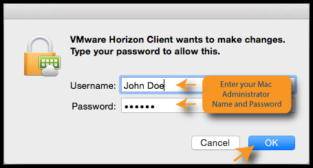 Mac admin username and password log in screen