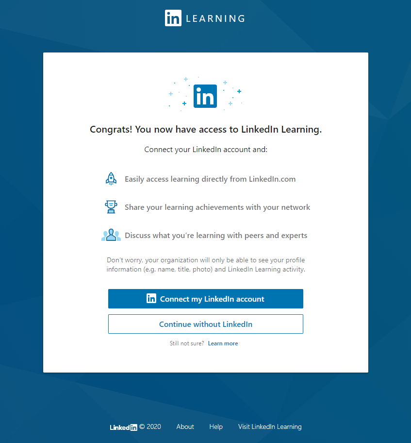 LinkedInLearning Account Connection