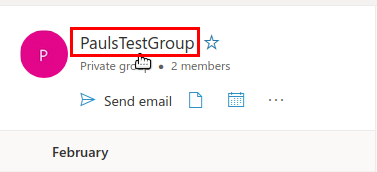 Screenshot of group with group title where you click on highlighted