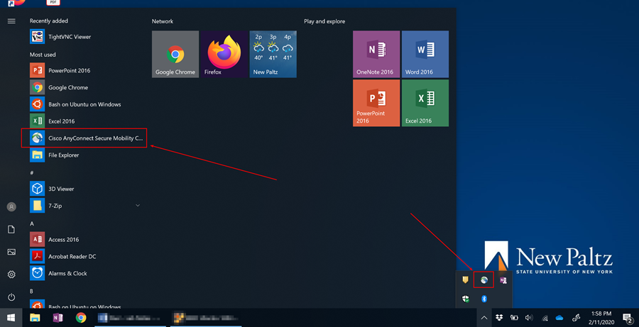 Screenshot showing Windows start menu and task bar location