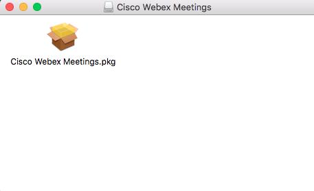Webex installation file