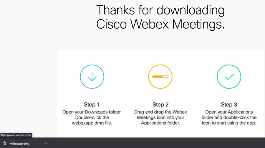 Install Webex