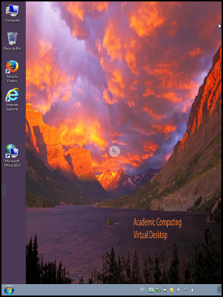 VMware WIN7 desktop screen