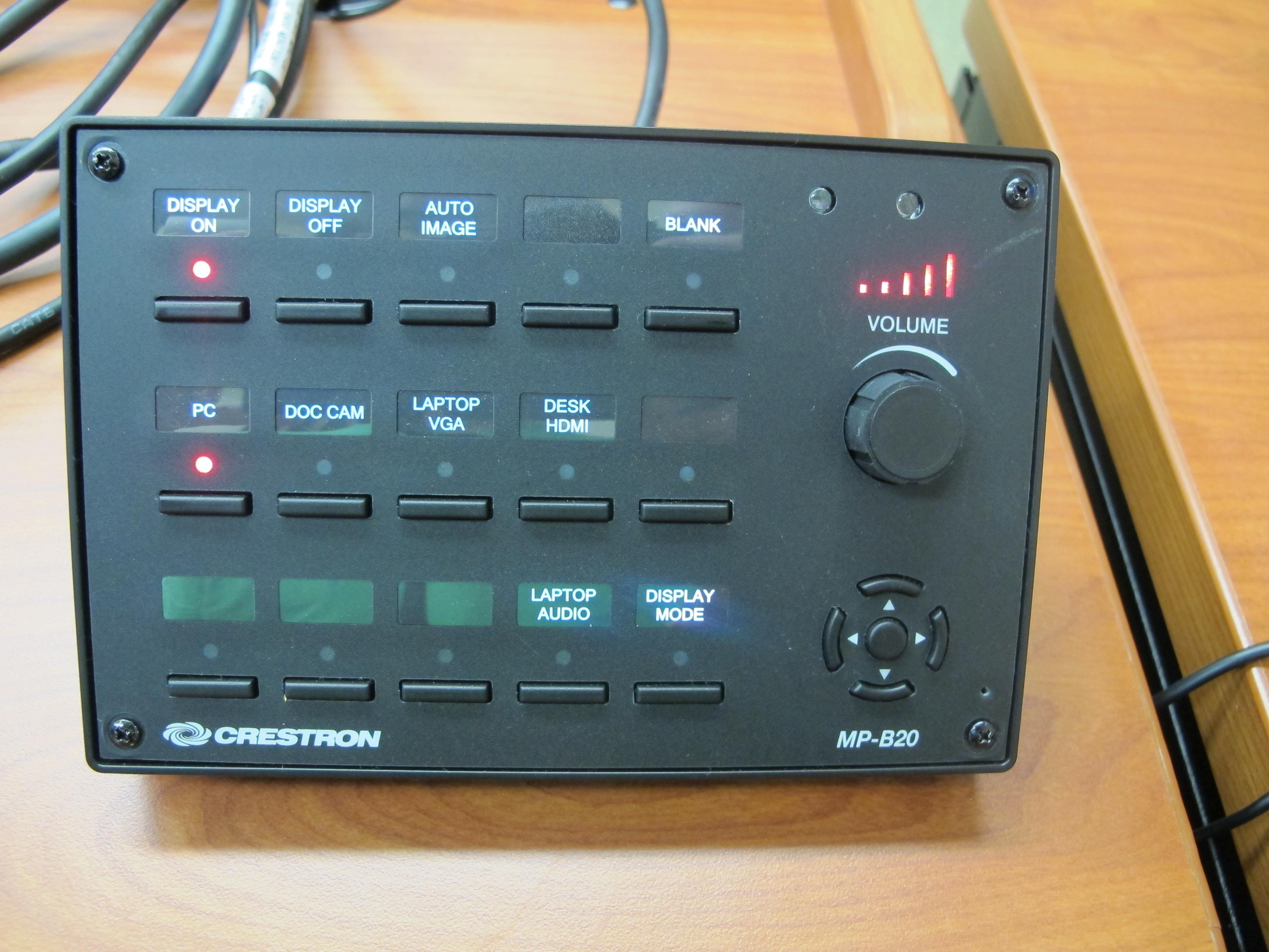 LC 109 Crestron Button Panel