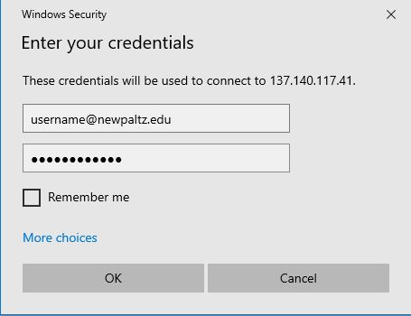 Screenshot showing screen that asks for user credentials
